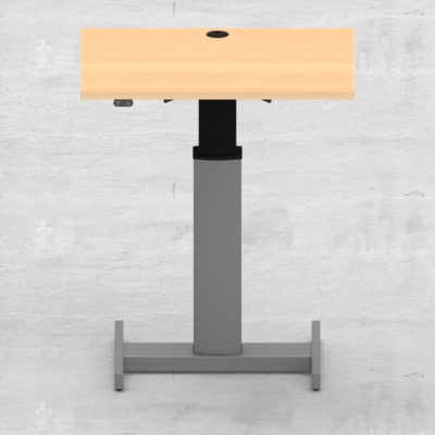 Electric Adjustable Desk | 80x60 cm | Beech with silver frame